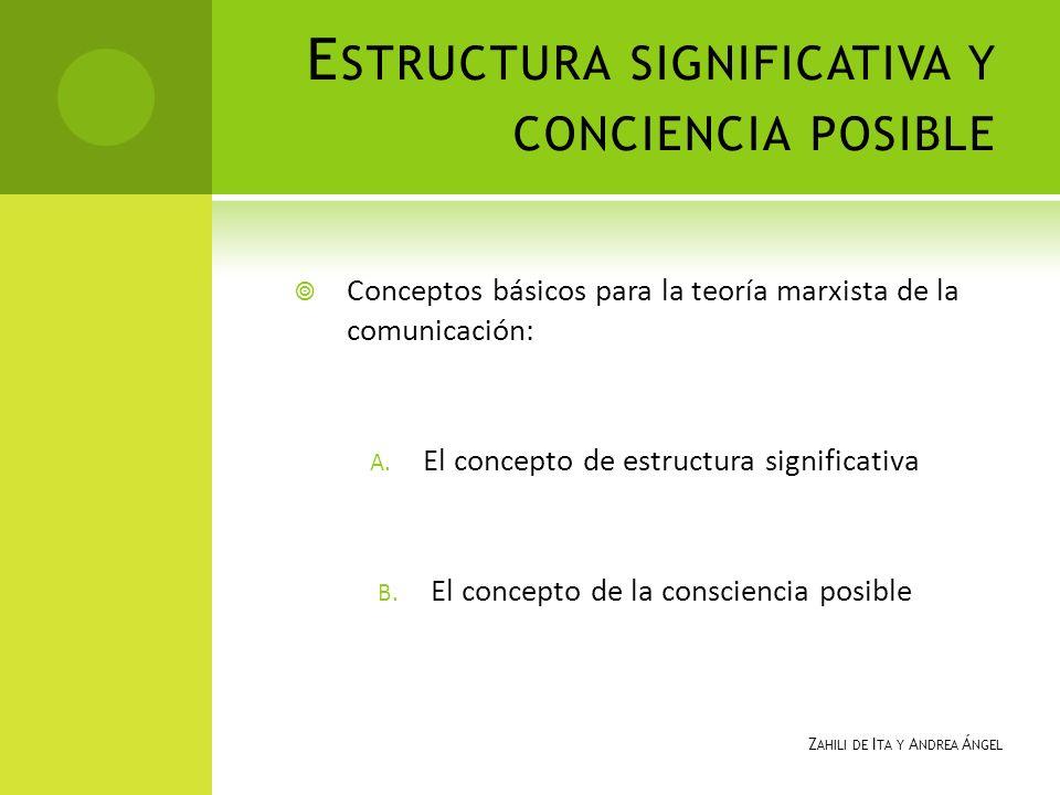 Estructura significativa y conciencia posible