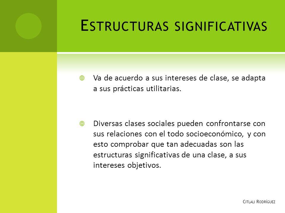 Estructuras significativas