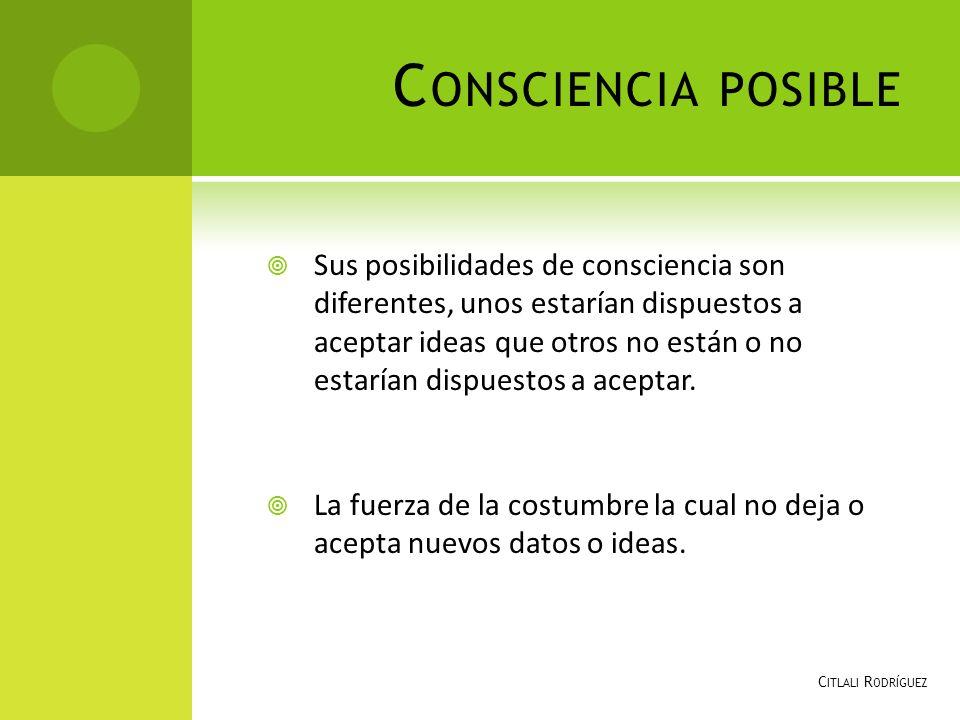 Consciencia posible