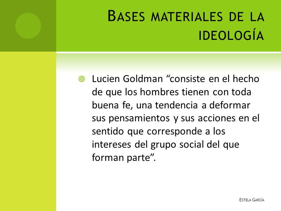 Bases materiales de la ideología