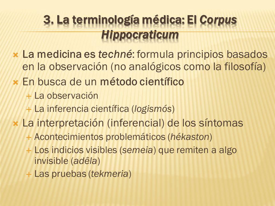 3. La terminología médica: El Corpus Hippocraticum