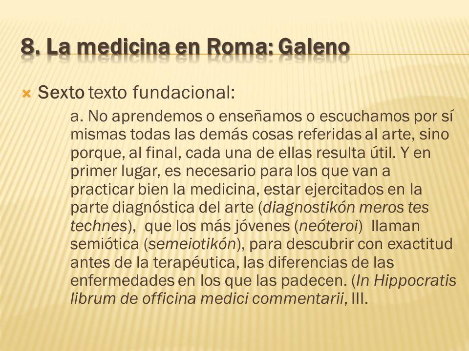 8. La medicina en Roma: Galeno
