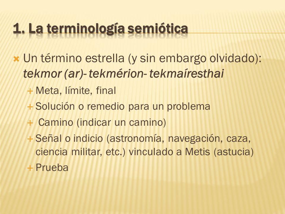 1. La terminología semiótica