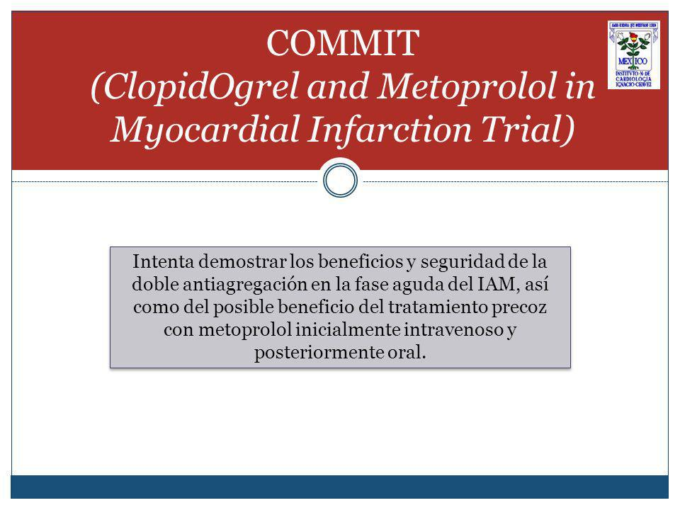 COMMIT (ClopidOgrel and Metoprolol in Myocardial Infarction Trial)