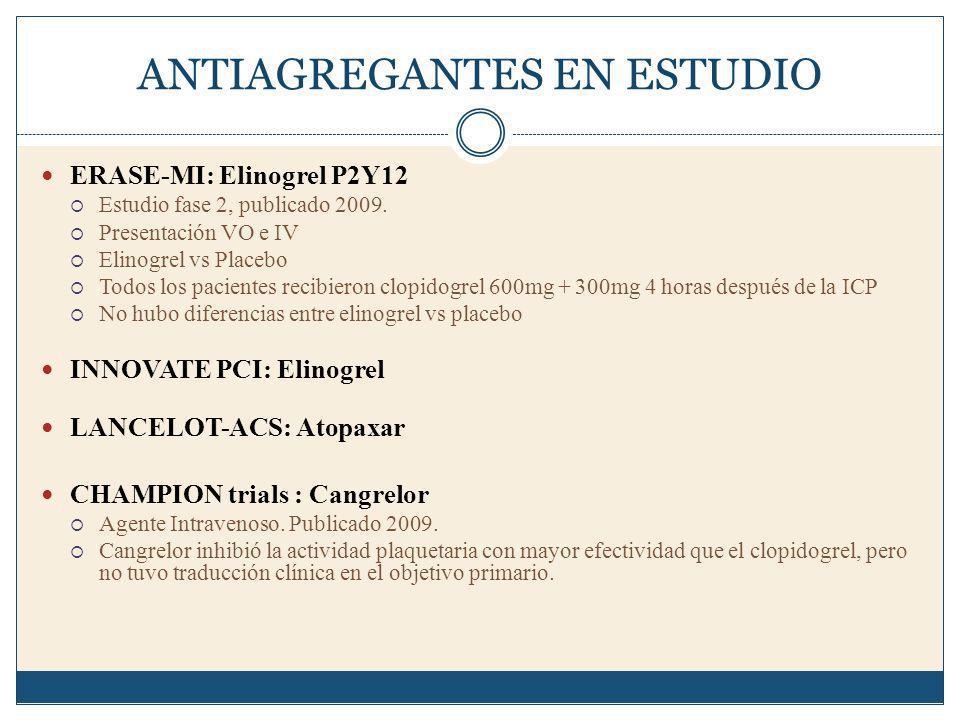 ANTIAGREGANTES EN ESTUDIO