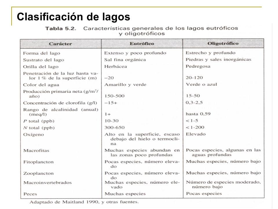 Clasificación de lagos