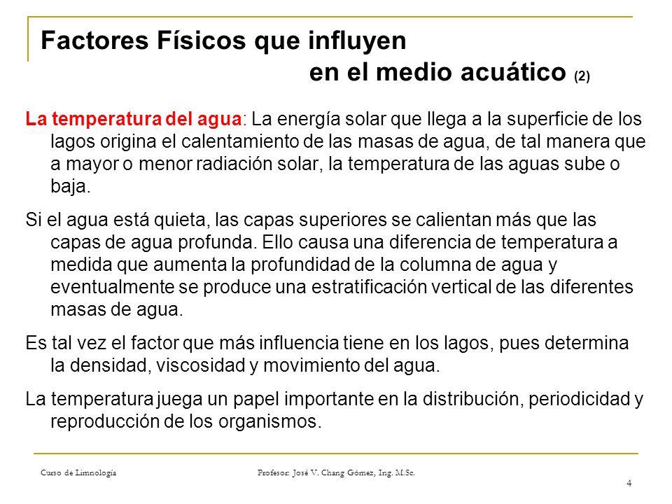 Factores Físicos que influyen en el medio acuático (2)