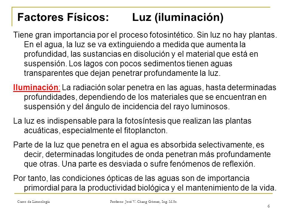 Factores Físicos: Luz (iluminación)