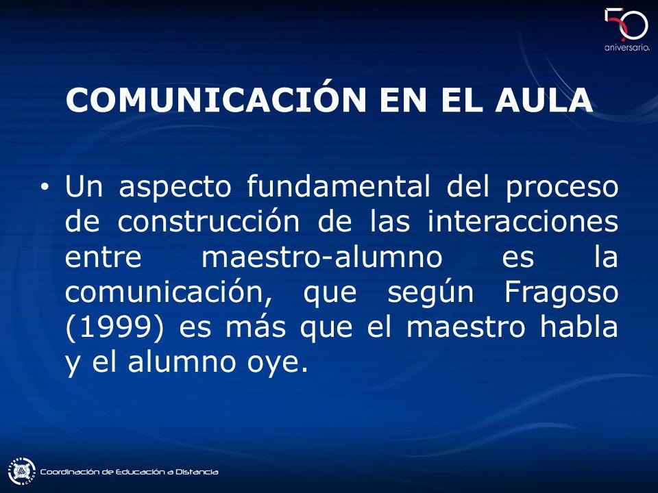 COMUNICACIÓN EN EL AULA