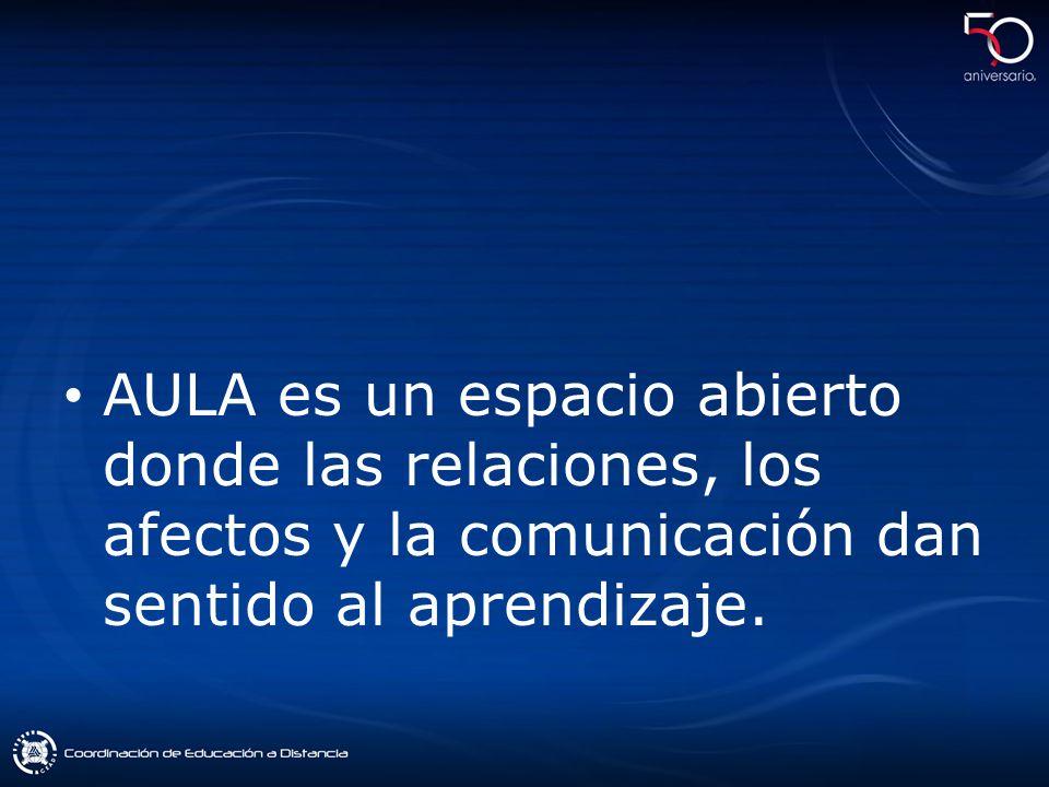 AULA es un espacio abierto donde las relaciones, los afectos y la comunicación dan sentido al aprendizaje.