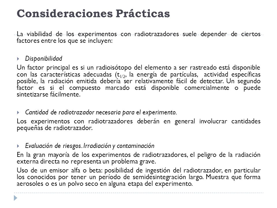 Consideraciones Prácticas