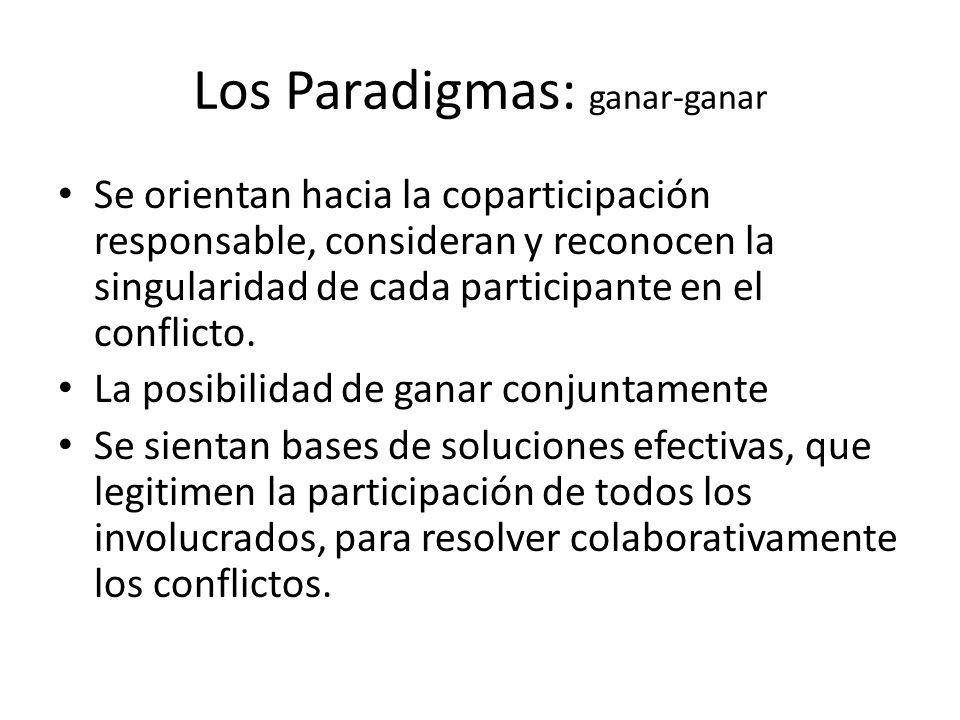 Los Paradigmas: ganar-ganar