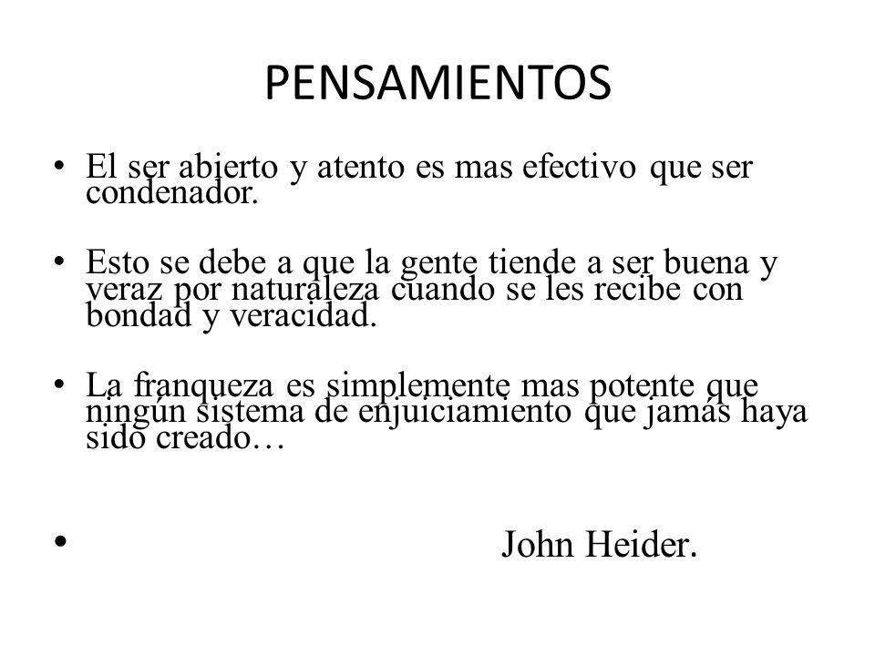 PENSAMIENTOS John Heider.