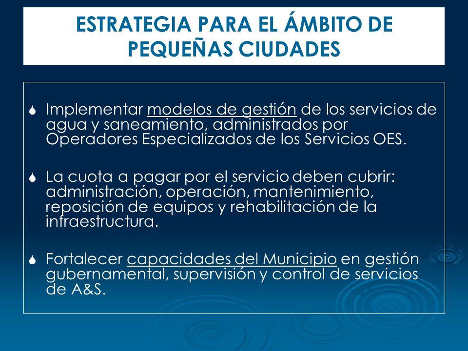 ESTRATEGIA PARA EL ÁMBITO DE PEQUEÑAS CIUDADES
