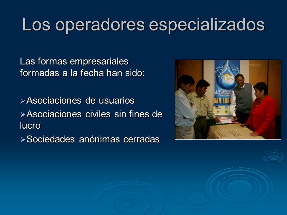 Los operadores especializados