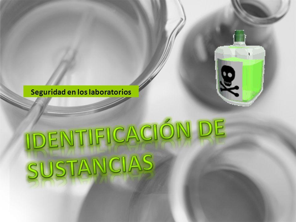 IDENTIFICACIÓN DE SUSTANCIAS