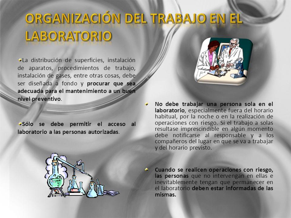 Organización del trabajo en el laboratorio