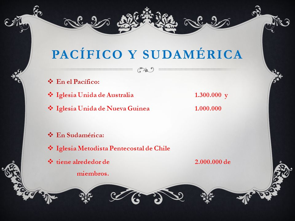 Pacífico y sudamérica En el Pacífico: