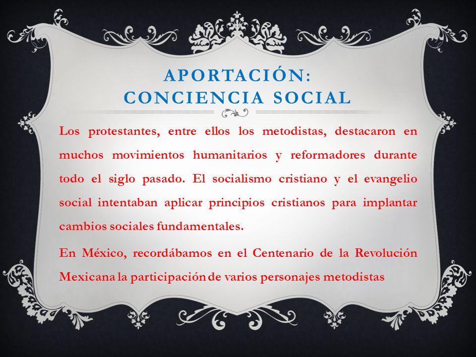 Aportación: conciencia social