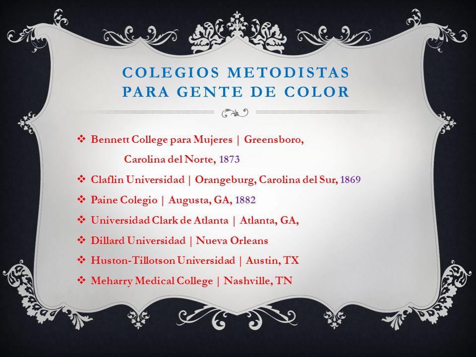 Colegios metodistas para gente de color