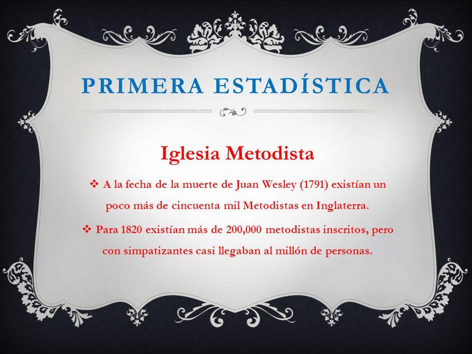 Primera estadística Iglesia Metodista