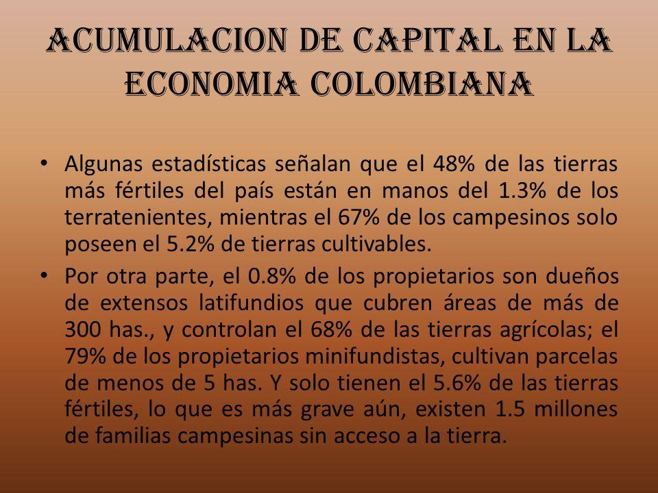 ACUMULACION DE CAPITAL EN LA ECONOMIA COLOMBIANA