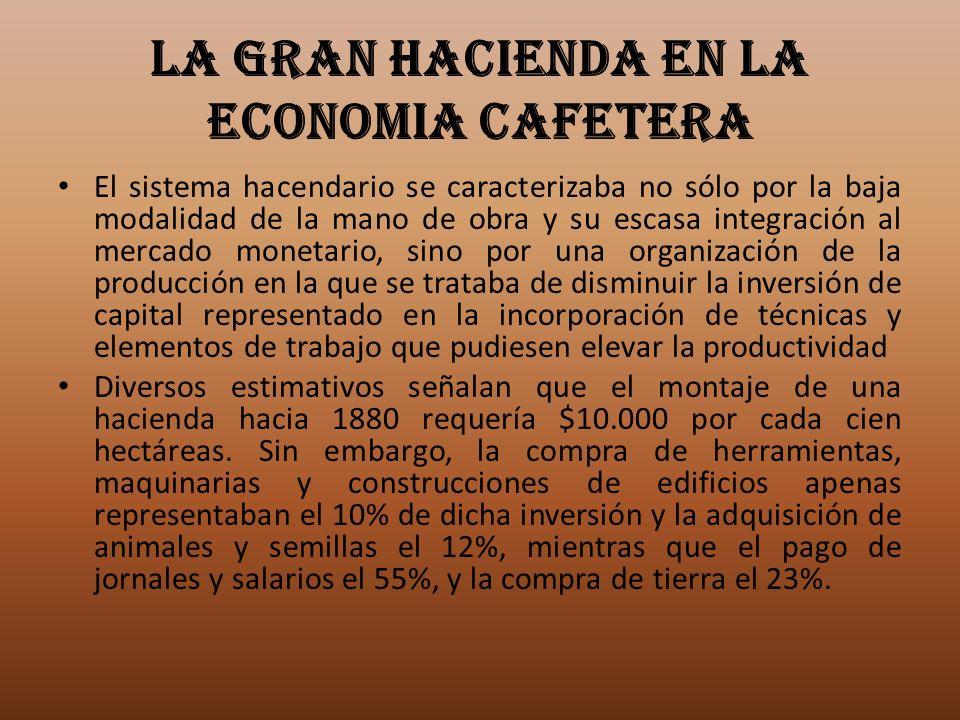 LA GRAN HACIENDA EN LA ECONOMIA CAFETERA