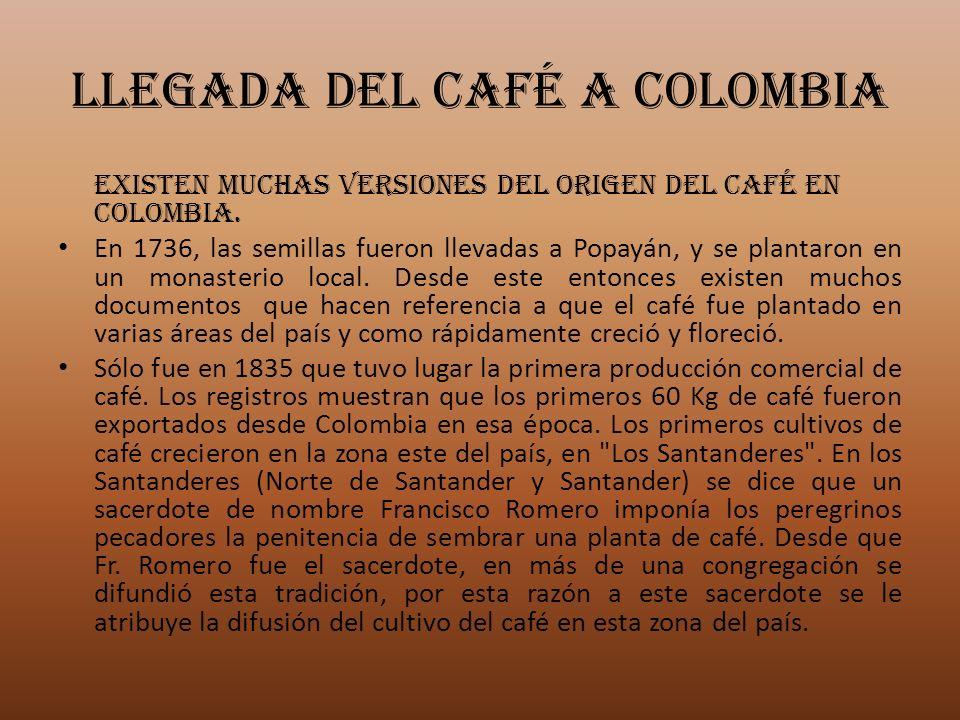 LLEGADA DEL CAFÉ A COLOMBIA