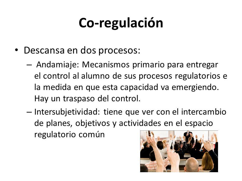 Co-regulación Descansa en dos procesos:
