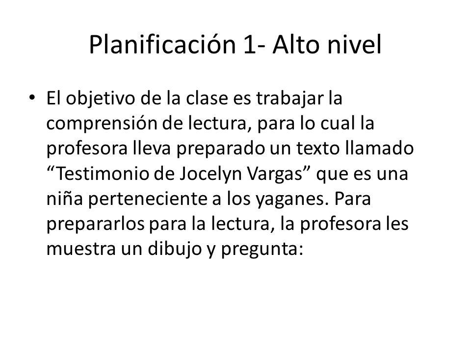 Planificación 1- Alto nivel