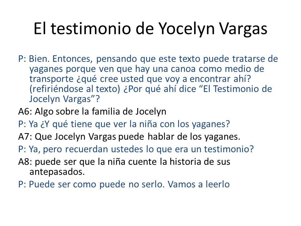 El testimonio de Yocelyn Vargas