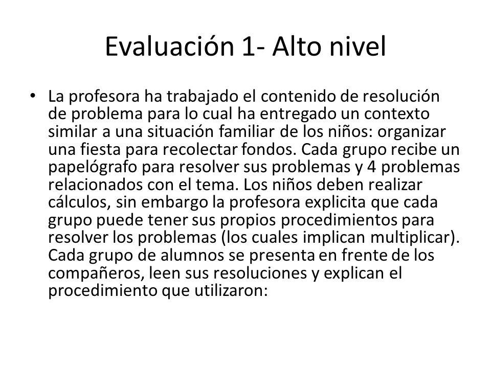 Evaluación 1- Alto nivel