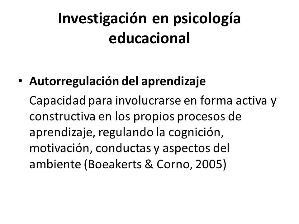 Investigación en psicología educacional