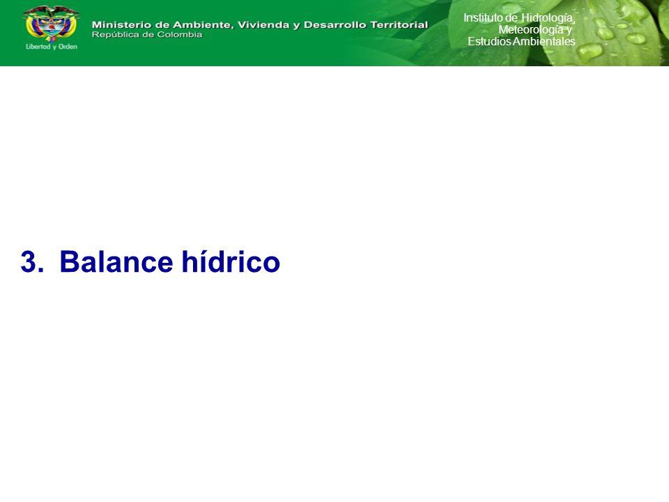 Oferta Demanda Balance hídrico Gestión de información en el marco de administración del Recurso