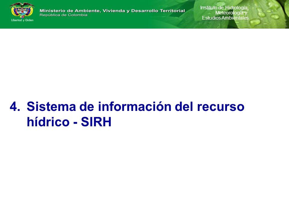 lance hídrico Sistema de información del recurso hídrico - SIRH