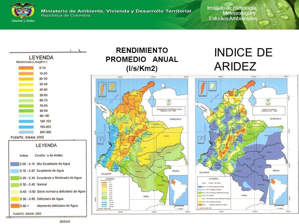 RENDIMIENTO PROMEDIO ANUAL (l/s/Km2)