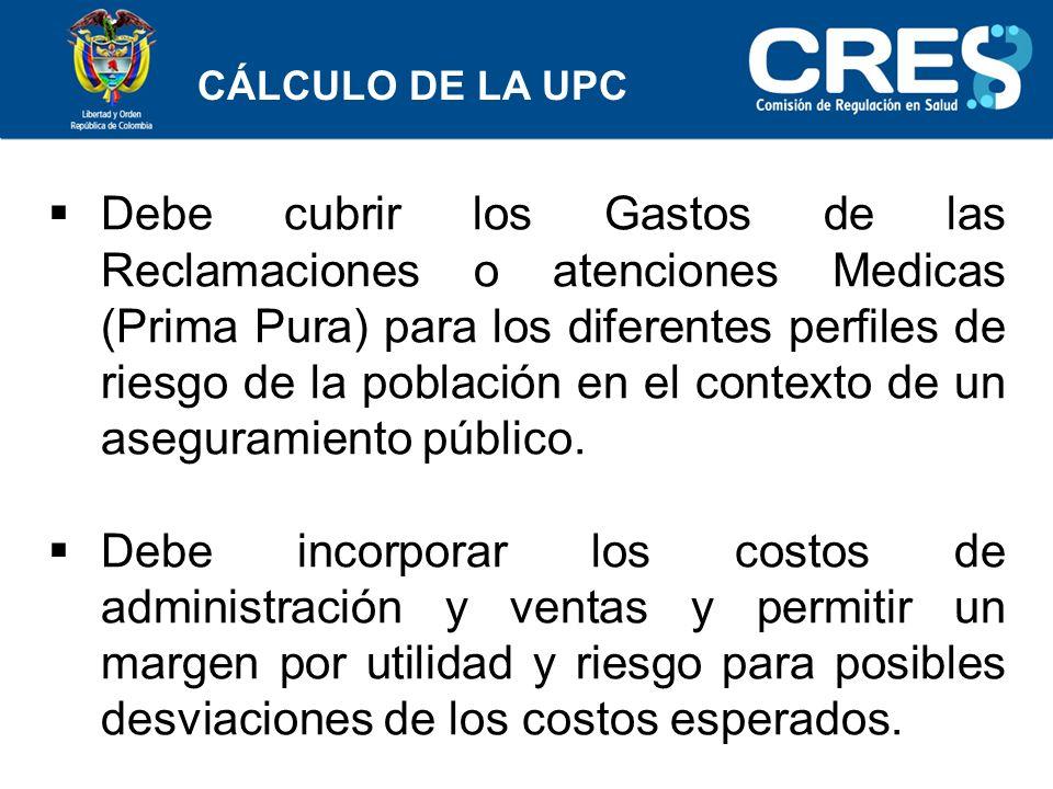CÁLCULO DE LA UPC