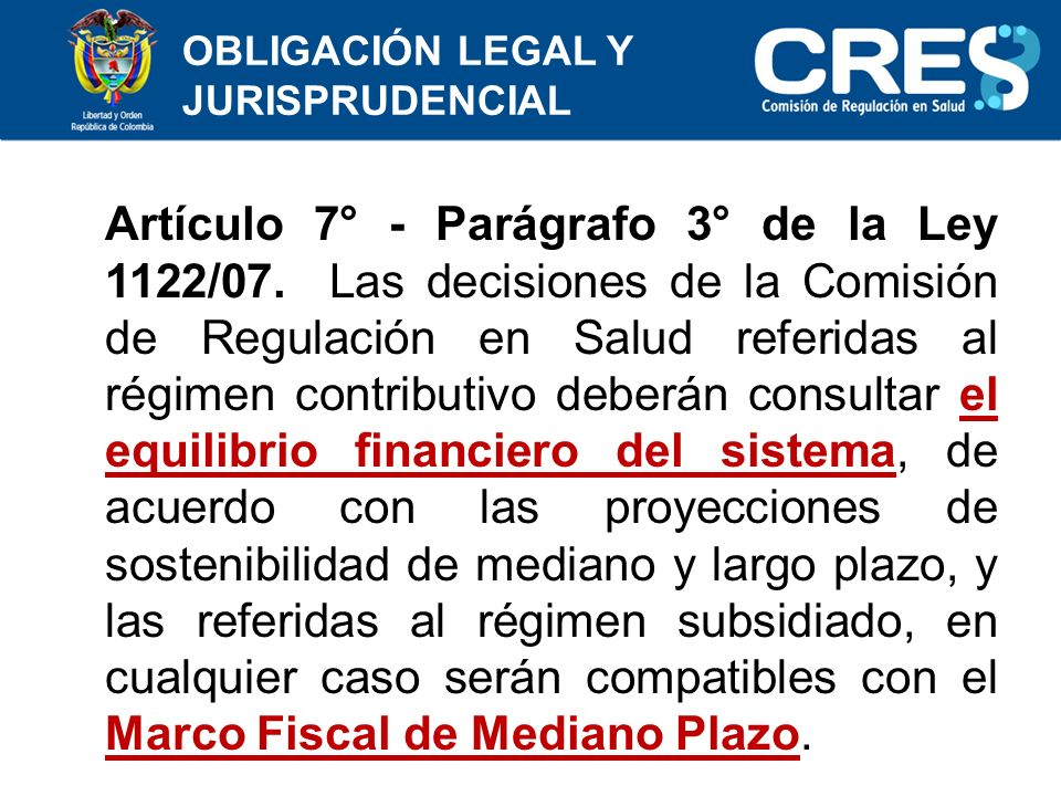 OBLIGACIÓN LEGAL Y JURISPRUDENCIAL