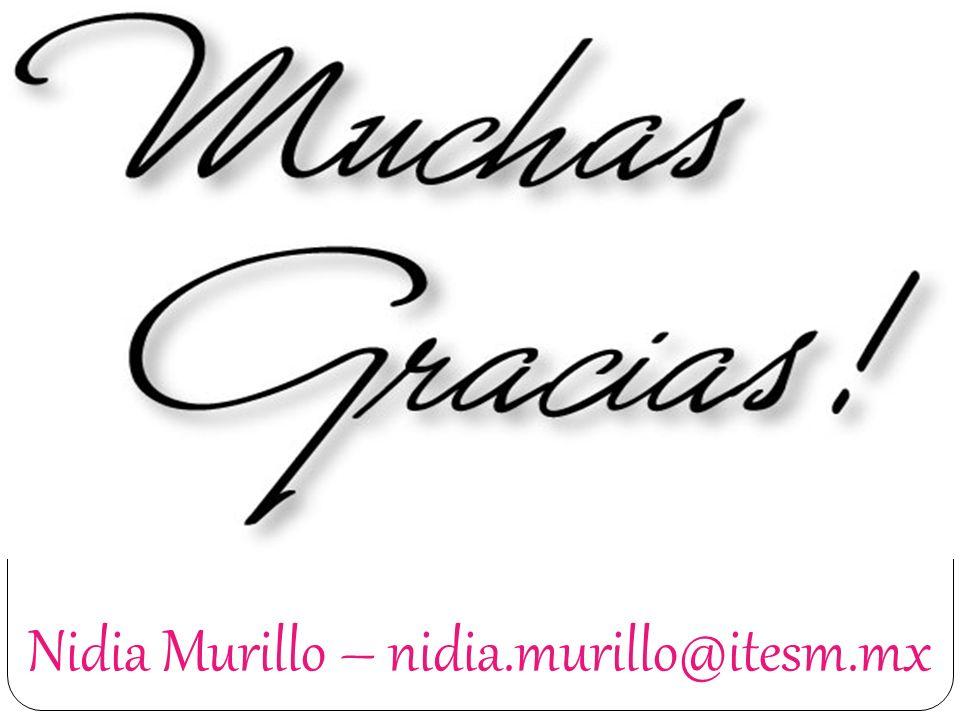 Nidia Murillo – nidia.murillo@itesm.mx