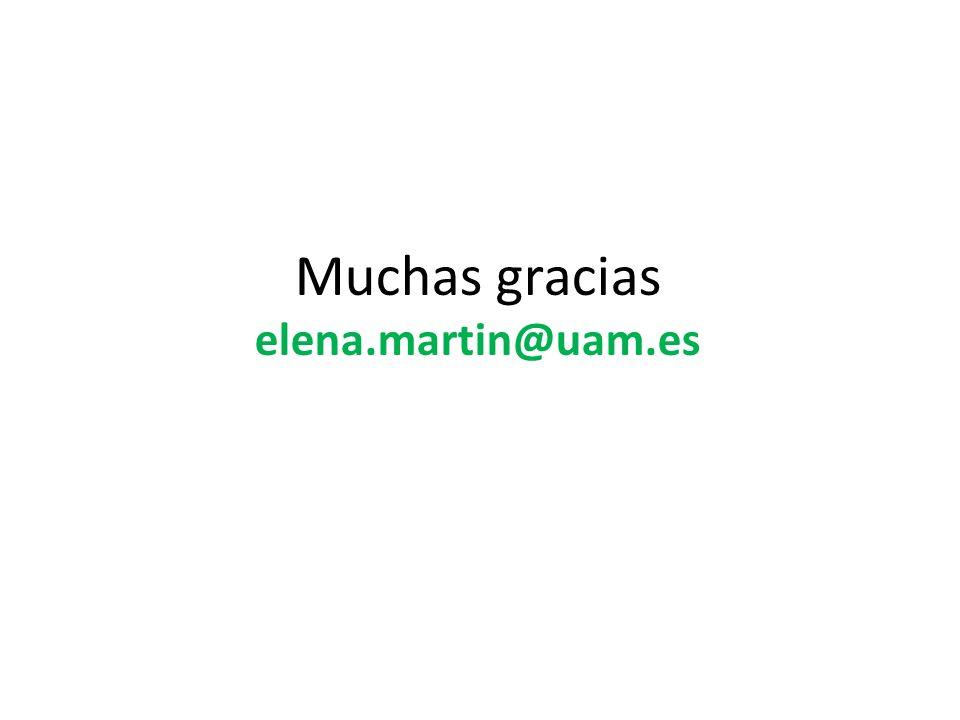 Muchas gracias elena.martin@uam.es