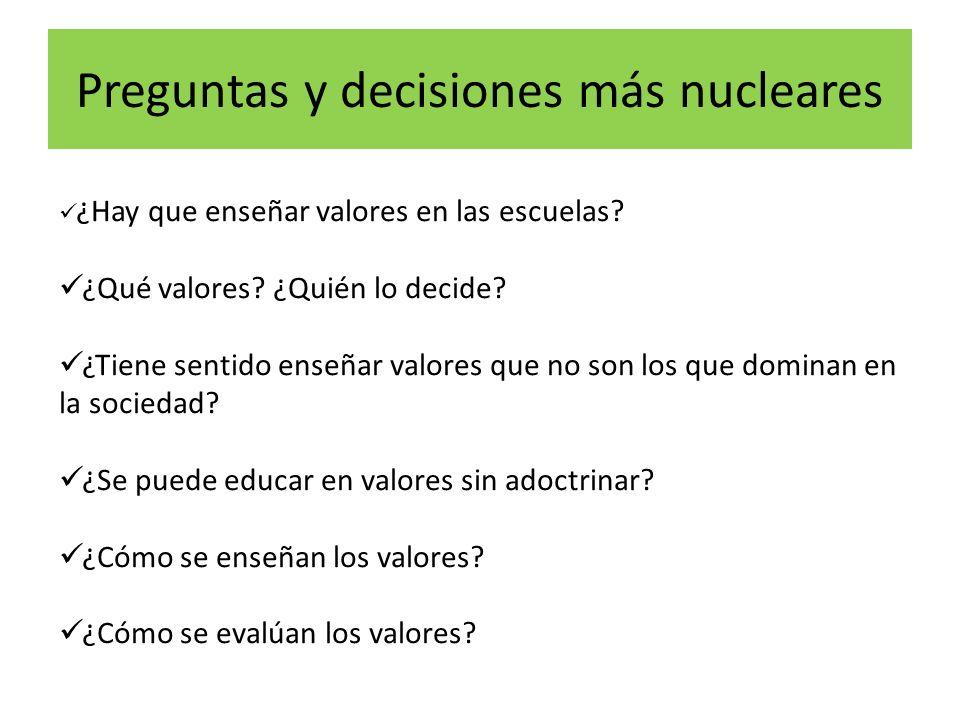 Preguntas y decisiones más nucleares