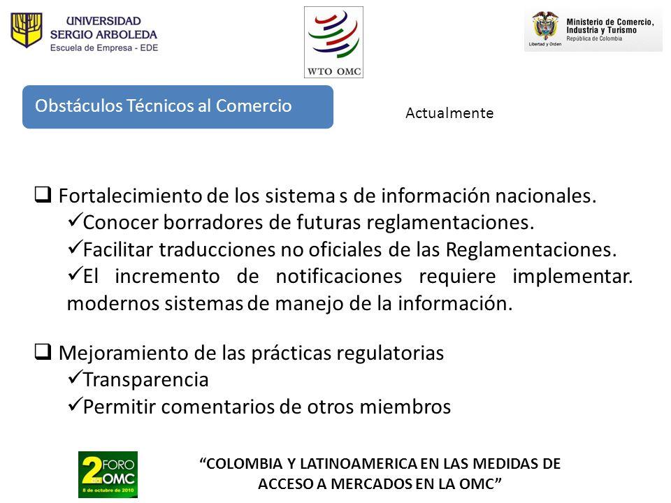 Fortalecimiento de los sistema s de información nacionales.