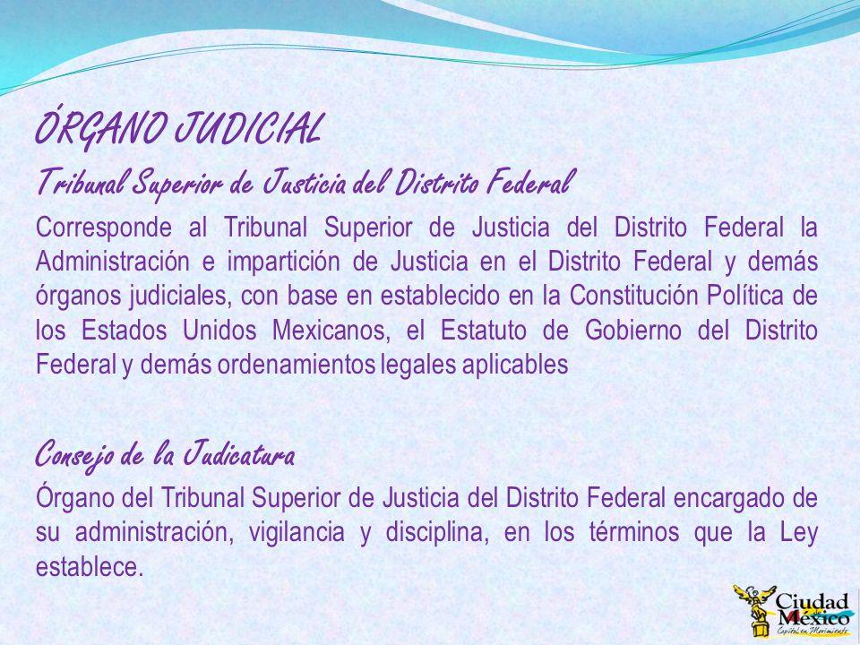 ÓRGANO JUDICIAL Tribunal Superior de Justicia del Distrito Federal