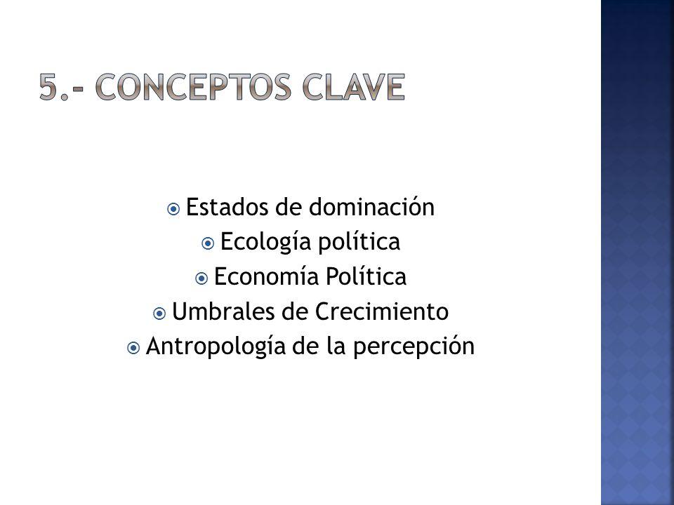 5.- Conceptos clave Estados de dominación Ecología política