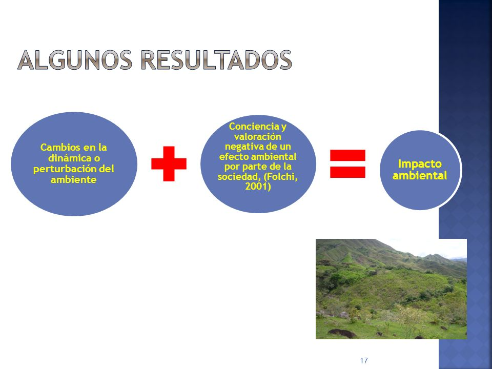 Cambios en la dinámica o perturbación del ambiente