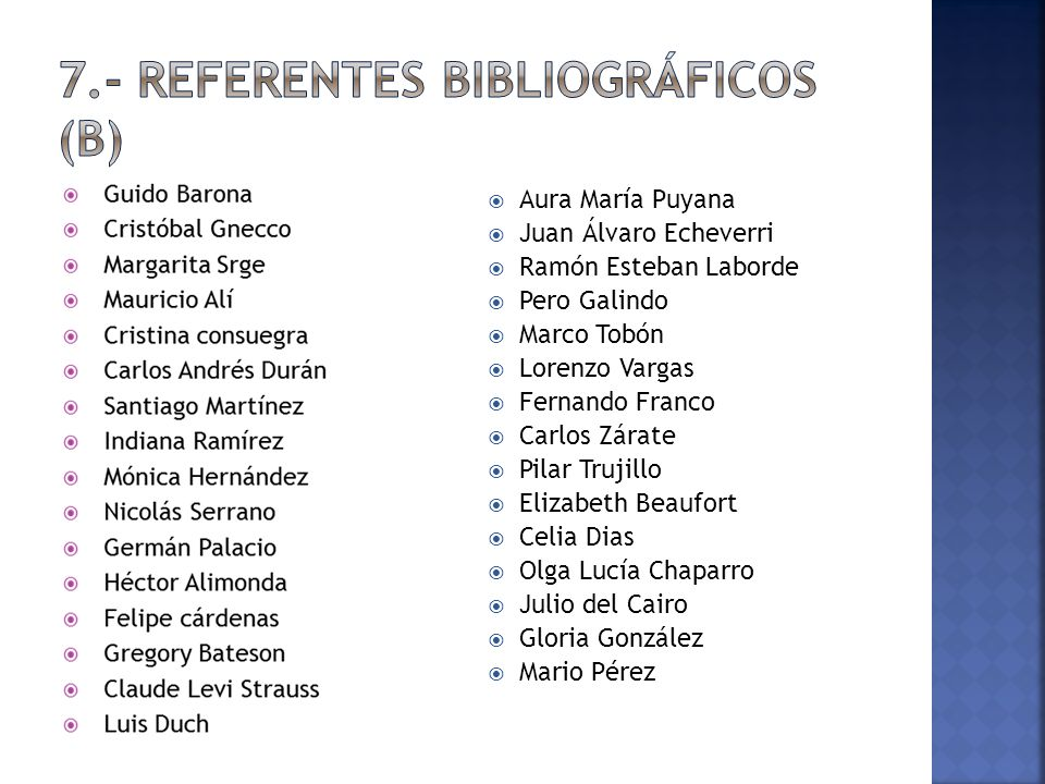 7.- REFERENTES BIBLIOGRÁFICOS (b)
