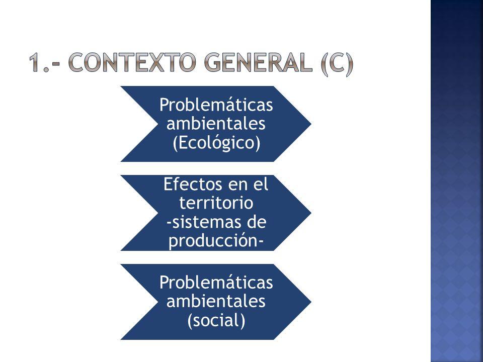 1.- Contexto General (c) Problemáticas ambientales (Ecológico)