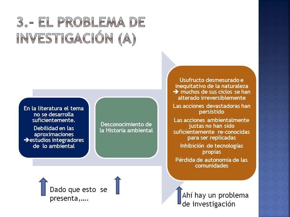 3.- El problema de investigación (a)