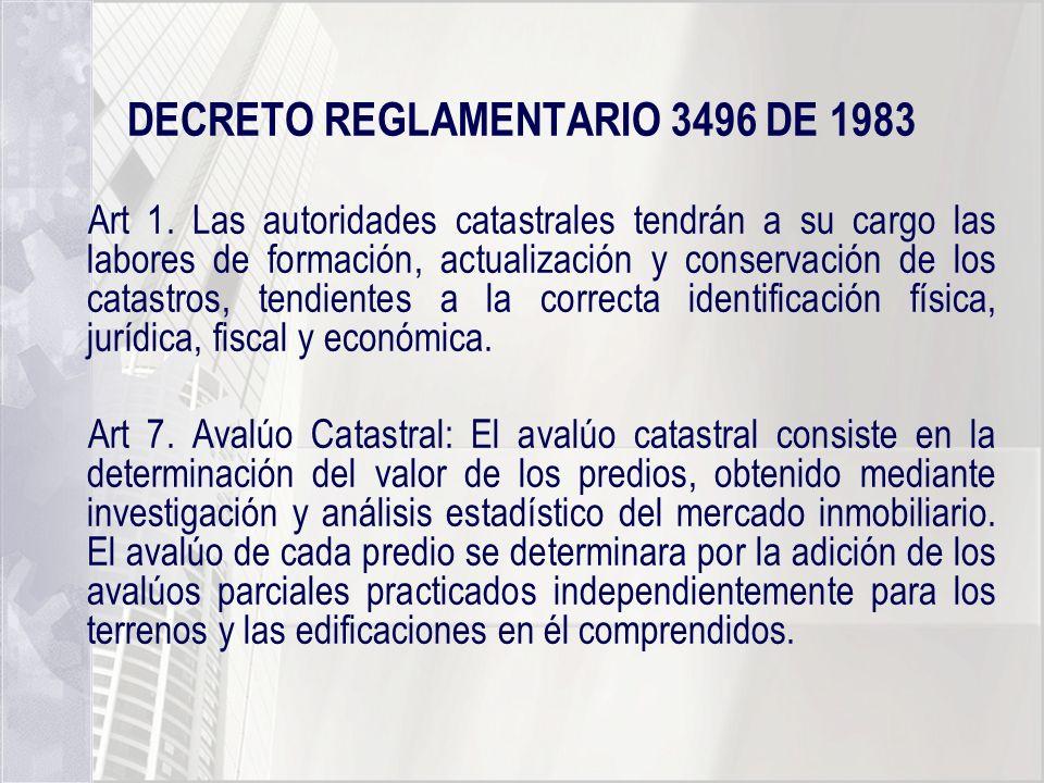 DECRETO REGLAMENTARIO 3496 DE 1983