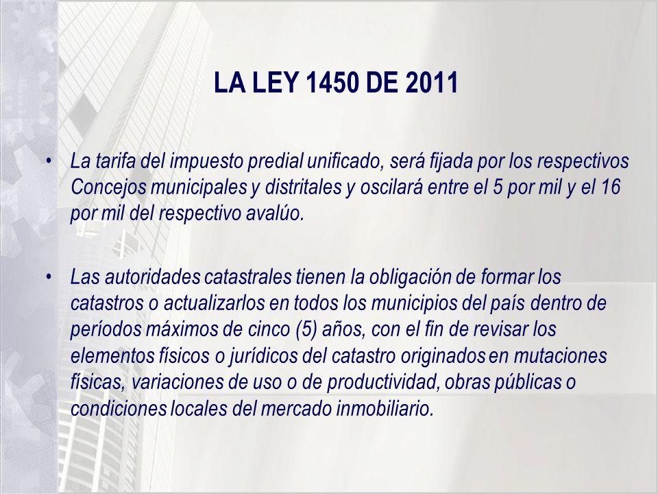LA LEY 1450 DE 2011